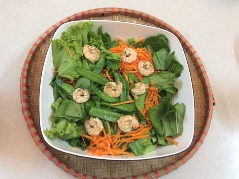 Salat cải bó xôi và tôm recipe step 2 photo