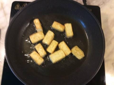 Đậu phụ hấp nấm rơm, thịt băm recipe step 2 photo
