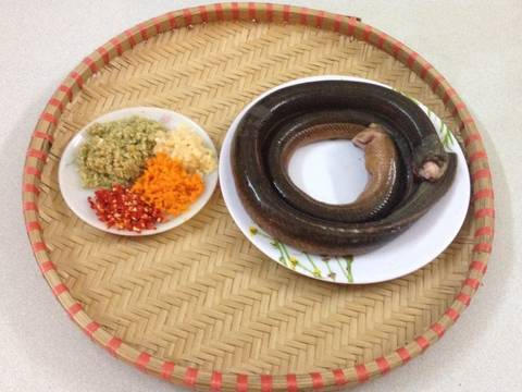 Bánh tráng vừng xúc lươn bằm recipe step 1 photo