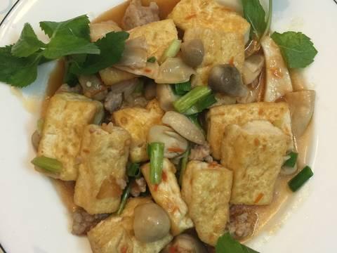 Đậu phụ hấp nấm rơm, thịt băm recipe step 5 photo