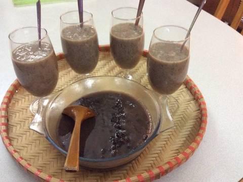 Sinh tố củ sen và đậu đen recipe step 4 photo