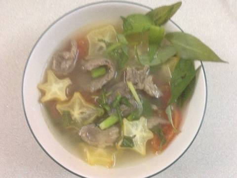 Canh bắp bò nấu khế và cà chua recipe step 6 photo