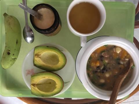 Cháo gạo lứt hạt sen, đậu đen và bí đỏ recipe step 3 photo