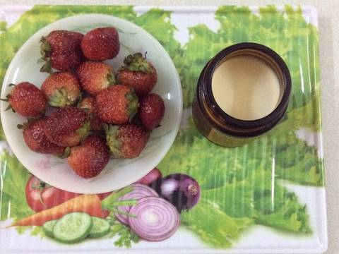 Sữa chua dâu tươi recipe step 1 photo