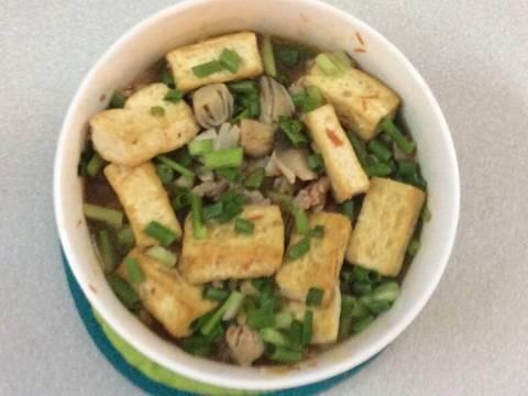 Đậu phụ hấp nấm rơm, thịt băm recipe step 4 photo