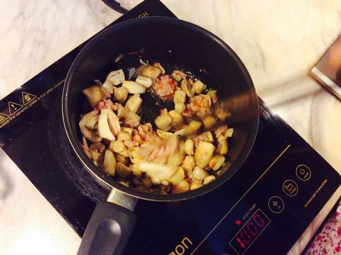 Đậu phụ hấp nấm rơm, thịt băm recipe step 3 photo