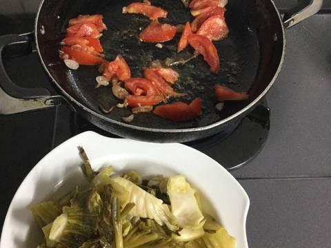 Dưa cải nấu giò heo recipe step 5 photo