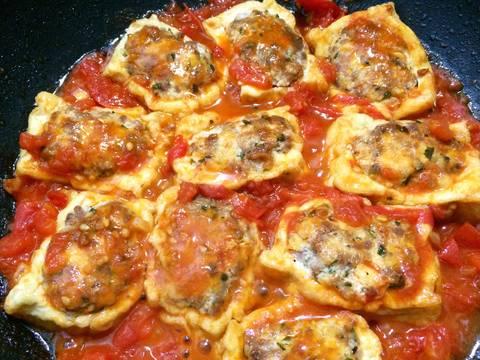 Đậu phụ nhồi thịt sốt cà chua recipe step 5 photo