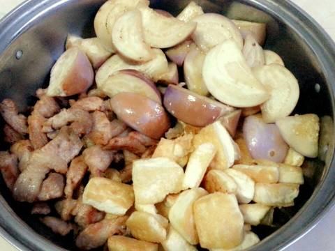 Cà tím bung thịt ba chỉ,đậu phụ recipe step 5 photo