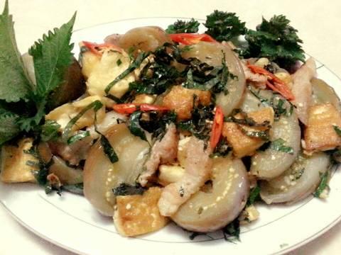 Cà tím bung thịt ba chỉ,đậu phụ recipe step 7 photo