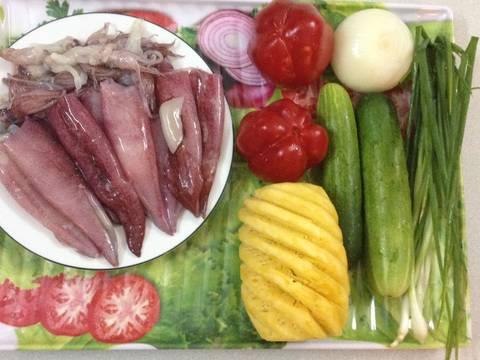 Mực xào thập cẩm recipe step 1 photo