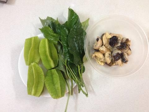 Ốc nấu canh khế recipe step 1 photo