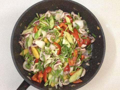 Mực xào thập cẩm recipe step 6 photo