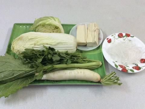 Đậu hũ xào miến chay recipe step 1 photo