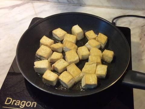 Đậu hũ xào miến chay recipe step 3 photo