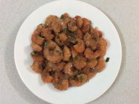 Tôm lột rang muối, ram mắm recipe step 3 photo