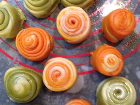 Bánh trung thu ngàn lớp kiểu Triều Châu (Teochew Spiral Yam Moon Cake) recipe step 4 photo