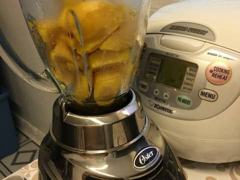 Bánh bông lan xoài và chanh dây.. recipe step 4 photo