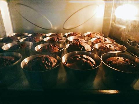 Bánh muffin chocolate bước làm 6 hình