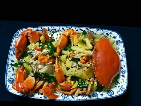 Cua nấu canh chua thơm recipe step 5 photo