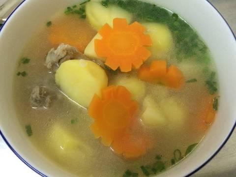 Canh xương khoai tây recipe step 5 photo