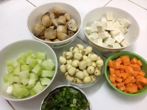 Canh Hạt Sen Chay recipe step 1 photo