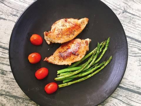 Thịt Ức Gà Chiên Măng Tây recipe step 4 photo