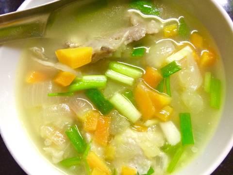 Canh súp gà cho bé và mẹ recipe step 10 photo