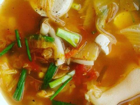 Canh giò heo kim chi recipe step 4 photo