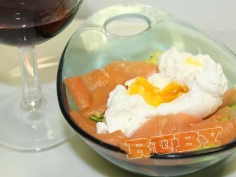 Salade Cá Hồi Xông Khói - Trứng (Món khai vị) recipe step 3 photo