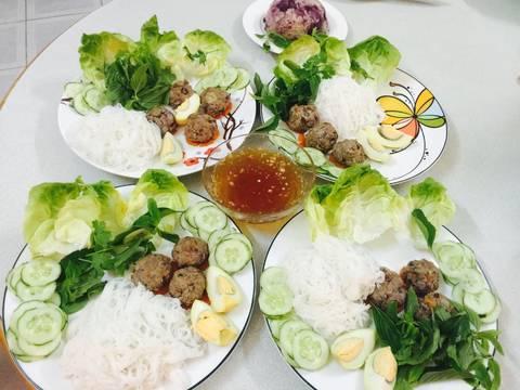 Bún thịt củ từ, khoai lang tím recipe step 15 photo