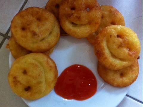 Bánh khoai tây hình mặt cười recipe step 5 photo