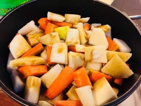Phổ tai kho củ, đậu và nấm recipe step 7 photo
