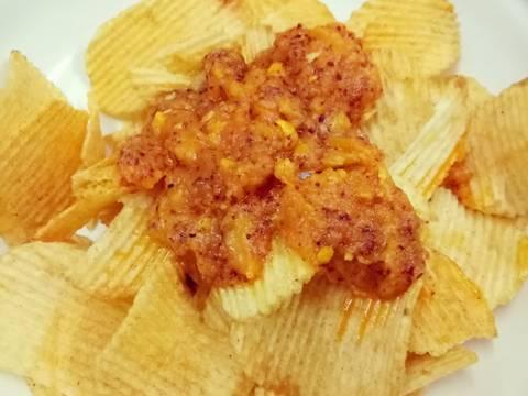 Snack khoai tây sốt trứng muối recipe step 2 photo