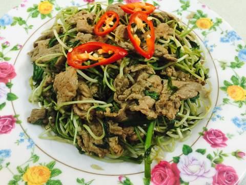 Rau mầm đậu xanh xào phi lê bò recipe step 6 photo