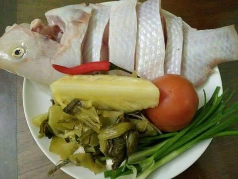 Cá điêu hồng nấu canh dưa cải chua recipe step 1 photo