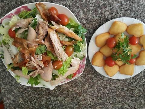 Salade gà quay recipe step 10 photo