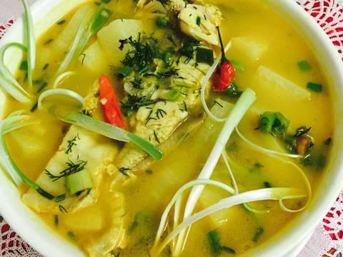 Canh chua cá nấu với xu hào recipe step 5 photo