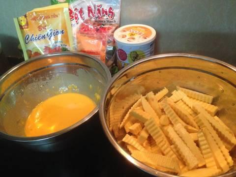 Khoai lang lắc phô mai recipe step 2 photo
