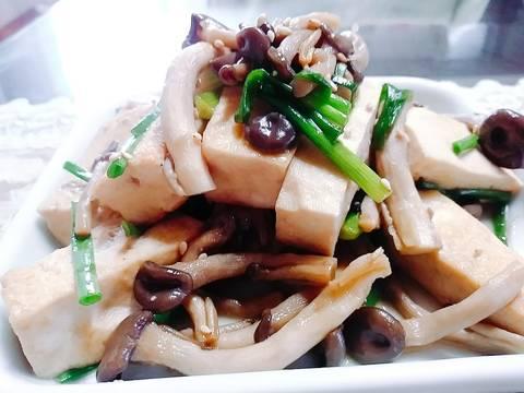 Đậu phụ + nấm xào chay recipe step 3 photo