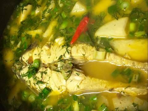 Canh chua cá nấu với xu hào recipe step 4 photo