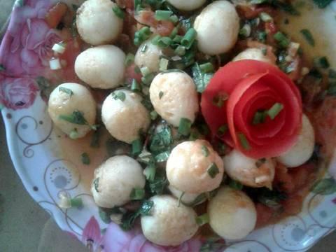 Trứng cút sốt cà chua recipe step 4 photo