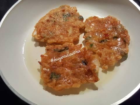 Kimchi Pancake bước làm 2 hình