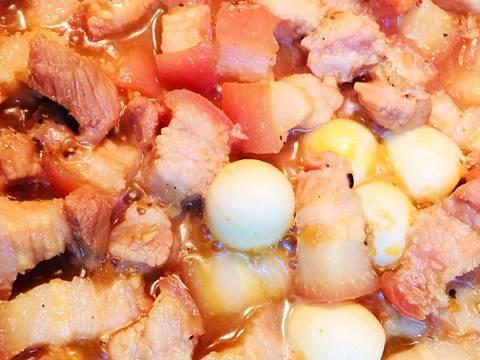 Thịt Ba Rọi Kho Trứng Cút recipe step 2 photo