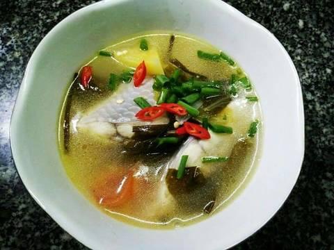 Cá điêu hồng nấu canh dưa cải chua recipe step 3 photo