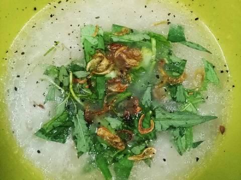 Cháo Gỏi Vịt Rau muống dập recipe step 16 photo