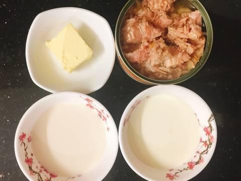 Pasta cá ngừ sốt kem recipe step 1 photo