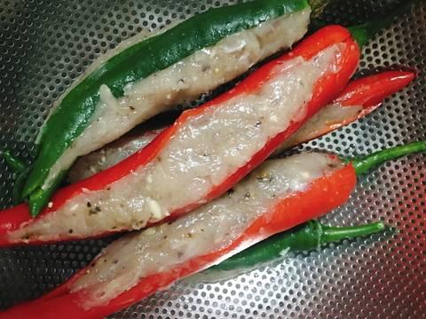 Ớt Nhồi Chả Cá Thác Lác recipe step 3 photo