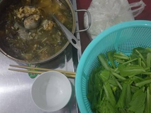 Cách nấu Lẩu cá bớp lá giang recipe step 4 photo