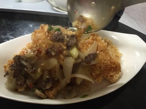 Cơm cháy Ninh Bình sốt thịt bò recipe step 6 photo